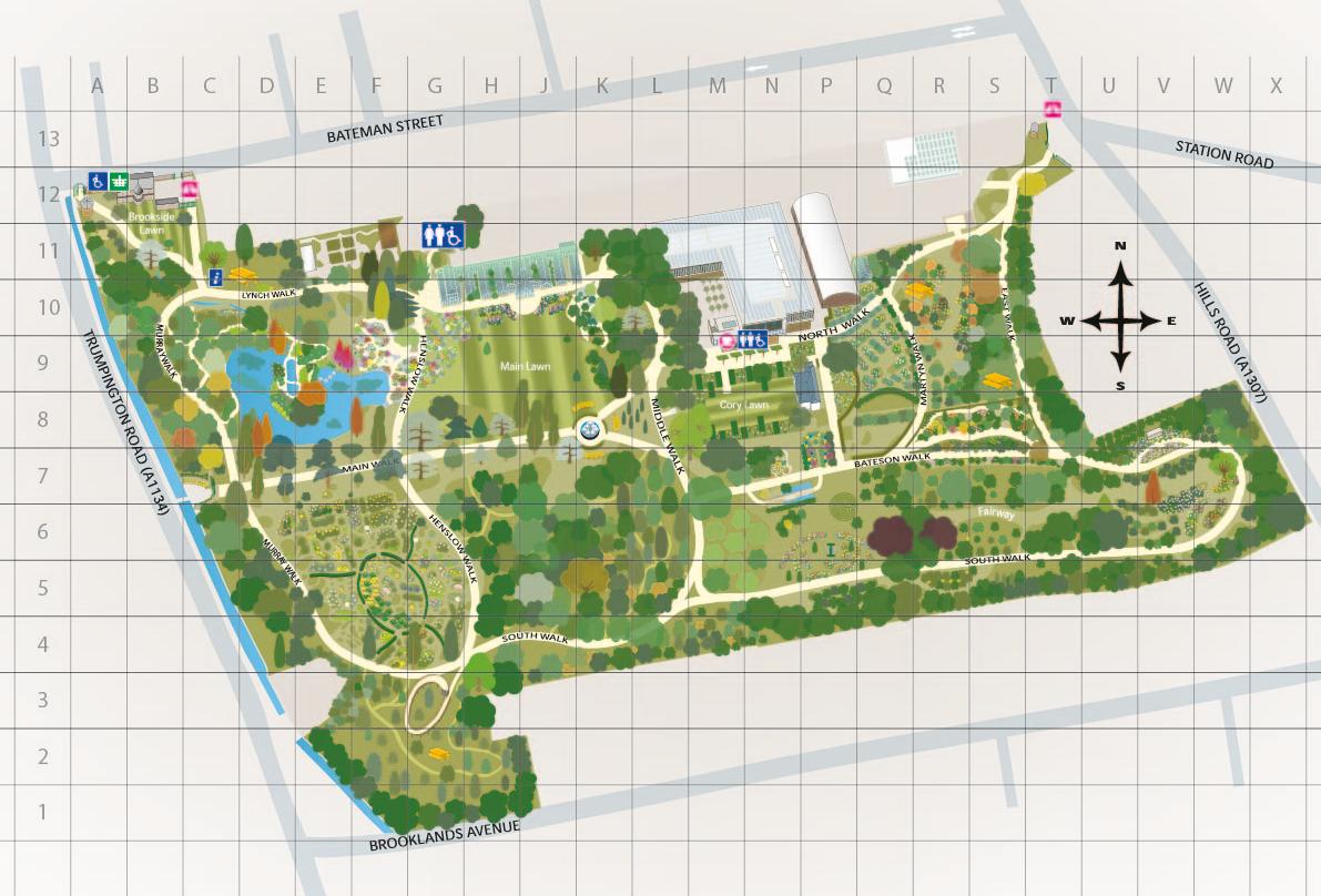 Garden Map Cambridge Botanic Garden